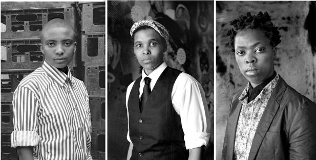 Three _ 3 Faces and Phases participants. L-R: Lerato Vile Muholi