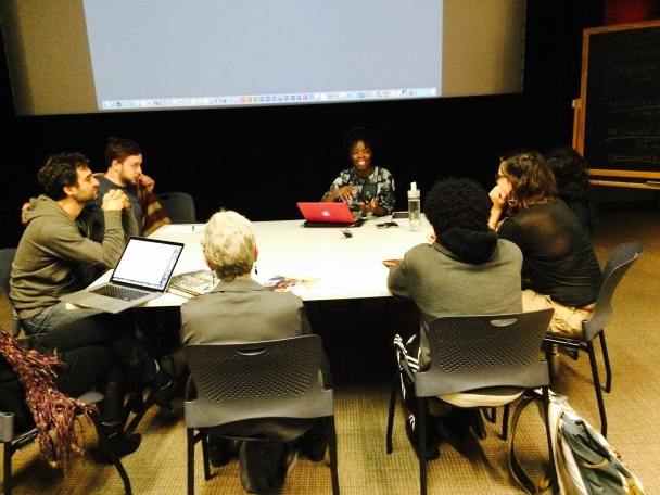 2015 Oct. 15 Muholi sharing her work with students, curators and researchers @Amherst College... Photo by Lerato Dumse