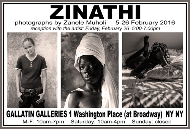 2016 Feb.5 - 26 Muholi @Gallatin NYU invite