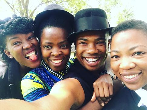 2016 Jan. 26 With Thobe Muholi Thami & Wendy