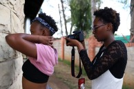 Behind the scenes pictures of participants documenting each other. Image by: Thobeka Bhengu